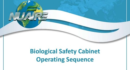 Biological Safety Cabinet Operating Sequence