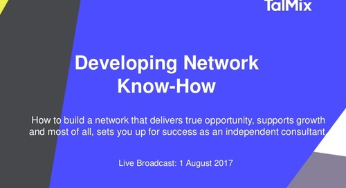 Developing Network Know-How as a Consultant