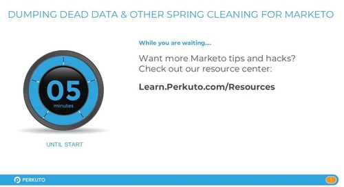 Dumping Dead Data and Other Spring Cleaning for Marketo - Slide Deck