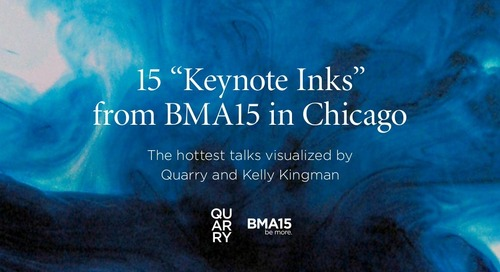 15 of the hottest talks from BMA15, visualized