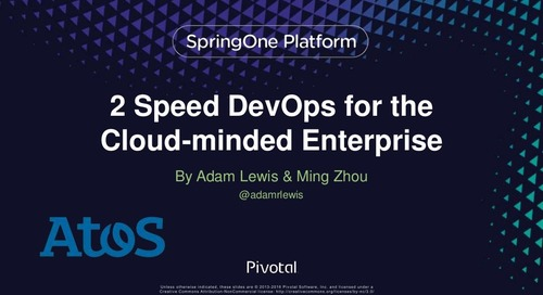 2-Speed DevOps for the Cloud-Minded Enterprise