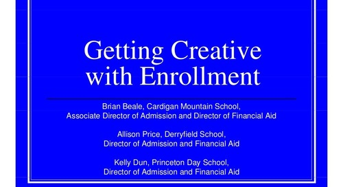 Getting Creative with Enrollment