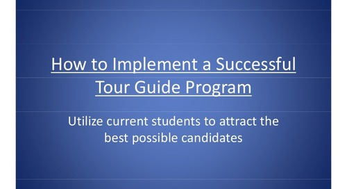 How to Implement a Successful Tour Guide Program