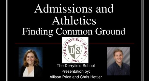 Admission and Athletics: Finding Common Ground