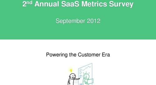 2012 Annual SaaS Metrics Survey Results