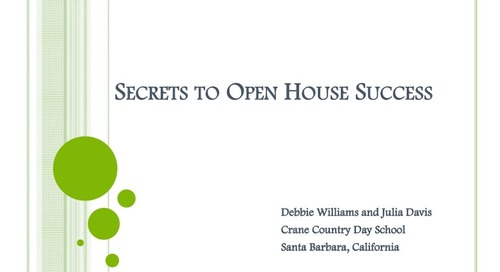 Secrets to Open House Success