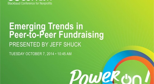Emerging Trends in Peer-to-Peer Fundraising