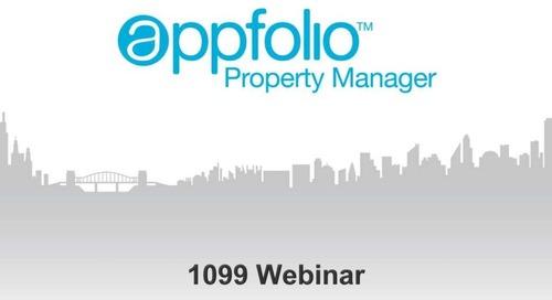 AppFolio 1099s - December Webinar
