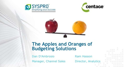 Budget Maestro and SYSPRO ERP- know exactly how much cash you need to support growth