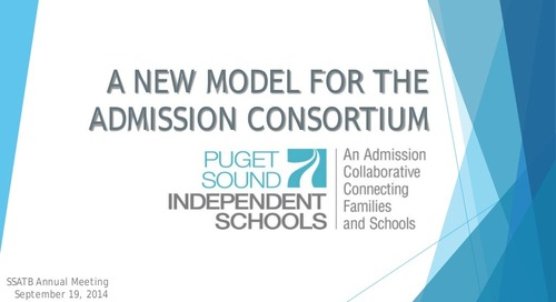 A New Model for the Admission Consortium