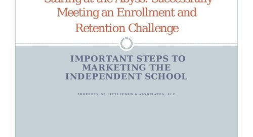 Successfully Meeting Enrollment and Retention Challenges