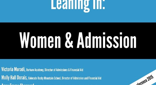 Leaning In: Women & Admission
