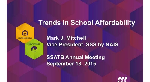 Trends in School Affordability