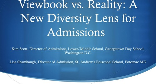 Viewbook vs. Reality: A New Diversity Lens for Admission