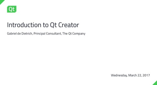 Introduction to Qt Creator