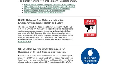 September 2017 Connection Workplace Safety Newsletter
