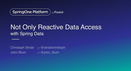 Not Only Reactive - Data Access with Spring Data