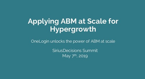 Applying ABM at Scale for Hypergrowth