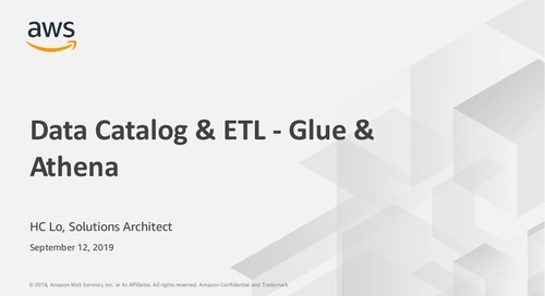 Data Catalog & ETL - Glue & Athena