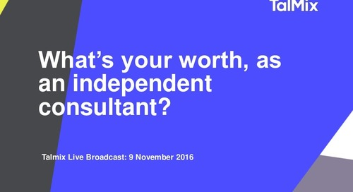 Slideshare: How to set your rate as an independent consultant