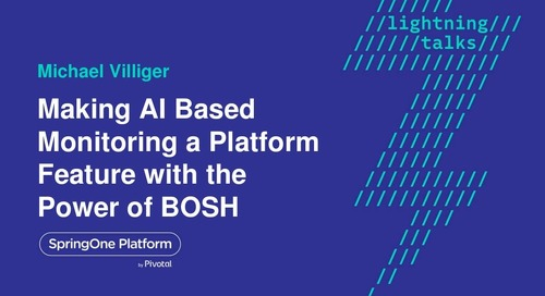 Making AI based monitoring a platform feature with the power of BOSH