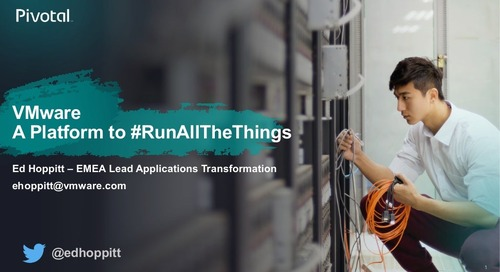 A Single Platform to Run All The Things - Kubernetes for the Enterprise - London