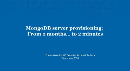 MongoDB Server Provisioning - From 2 Months to 2 Minutes