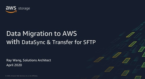 Data Migration to AWS with DataSync & Transfer for SFTP
