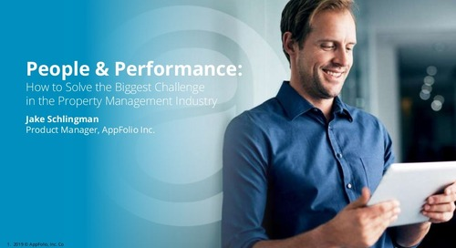 People & Performance: How to Solve the Biggest Challenge in the Property Management Industry