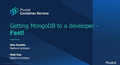 Getting MongoDB to a Developer Fast - Kubernetes for the Enterprise - London