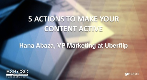 5 Actions to Make Your Content Active