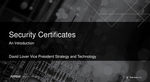 Avaya Security Certificates Webinar