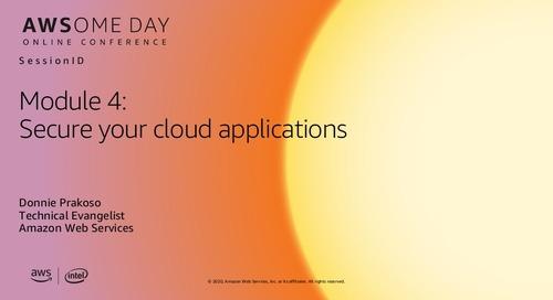 AWSome Day Online 2020_Modul 4: Mengamankan aplikasi cloud Anda
