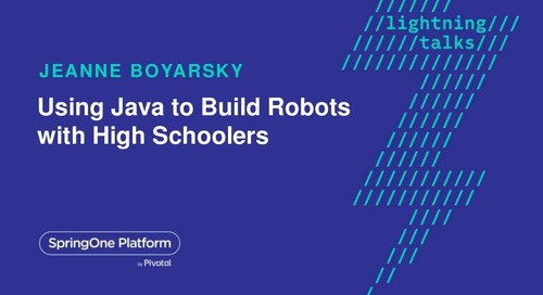 Using Java to build robots with high schoolers