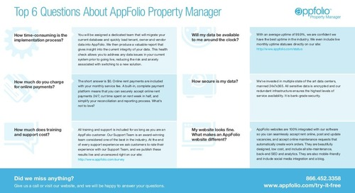 6 Answers to Common questions About Property Management Sotware