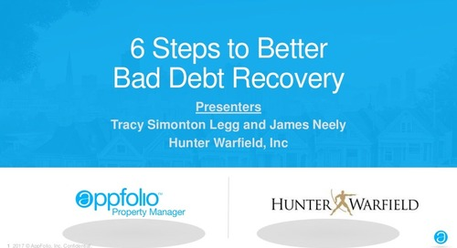 6 Steps to Better Bad Debt Recovery
