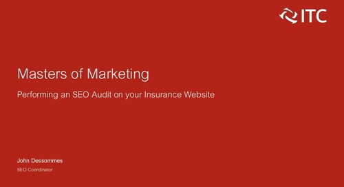 Performing an SEO Audit on Your Insurance Website