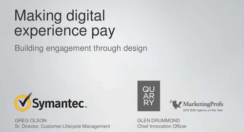 Making Digital Experience Pay