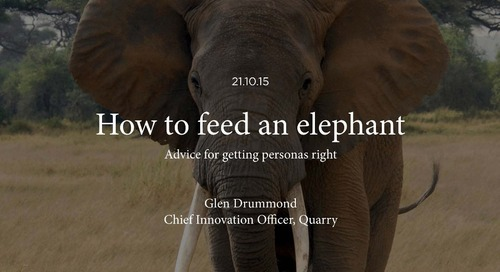 How to Feed an Elephant: Advice for Getting Personas Right