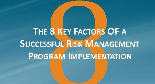 8 Key Factors in a Successful Risk Management Program Implementation