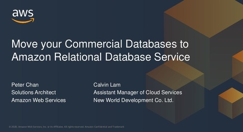 Moving your commercial databases to Amazon RDS
