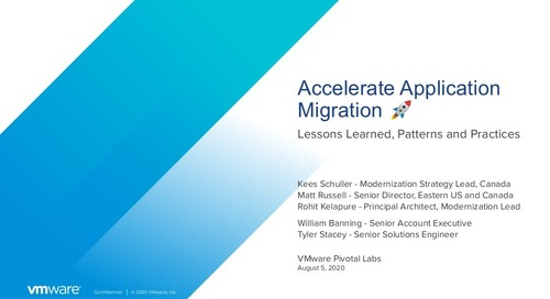 Accelerate Application Migration - August 5, 2020