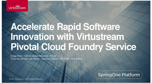 Accelerate Rapid Software Innovation with Virtustream Pivotal Cloud Foundry Service