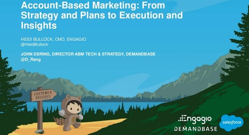 Account Based Marketing: From Strategy and Plans to Execution and Insights | Engagio