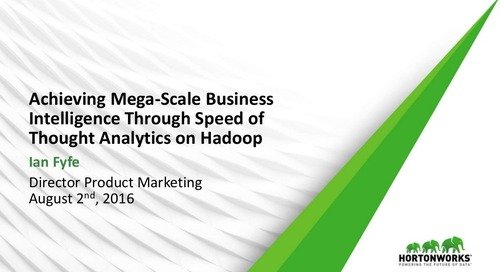 Achieving Mega-Scale Business Intelligence Through Speed of Thought Analytics on Hadoop