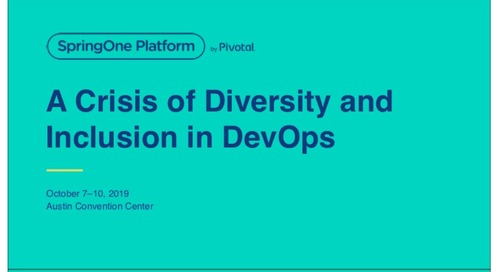A Crisis of Diversity and Inclusion in DevOps