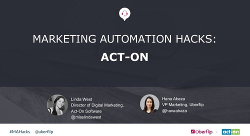 Marketing Automation Hacks 2016: Act-On