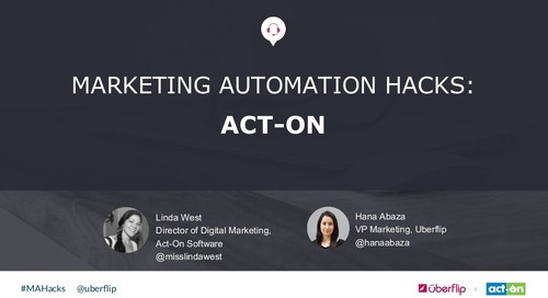Marketing Automation Hacks 2016: Act-On