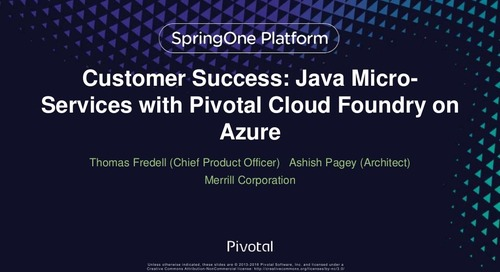 Adopting Azure, Cloud Foundry and Microservice Architecture at Merrill Corporation