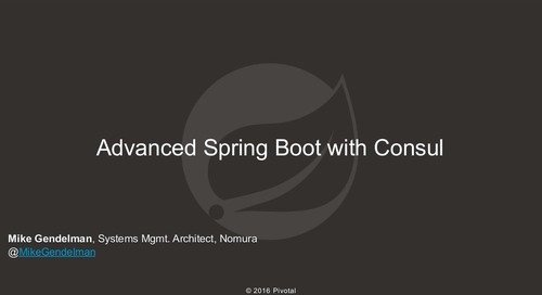 Advanced Spring Boot with Consul
